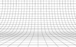 Free Grid Curved Background Empty In Perspective, Vector Illustration. Royalty Free Stock Photos - 141857948