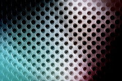 Grid Design Surface. Abstract design surface featuring circular grid with some colour shift effects and blur Royalty Free Stock Photo