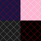 Grid Diamond Square Background Set. Vector Illustration Stock Photos