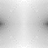 Grid of distorted dynamic lines. Repeatable. Curved lines geomet Stock Image