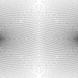 Grid of distorted dynamic lines. Repeatable. Curved lines geomet Royalty Free Stock Images