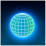Grid earth globe icon Royalty Free Stock Image