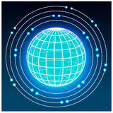Grid earth globe icon Royalty Free Stock Photography