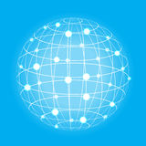 Grid earth globe icon Stock Photo