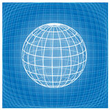 Grid earth globe icon Royalty Free Stock Images