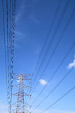 Grid electricity tower Stock Photos