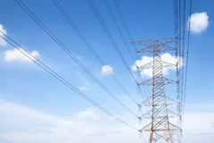 Grid electricity tower - Series 3 stock image