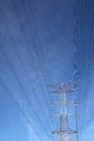 Grid electricity tower - Series 7 Royalty Free Stock Photos