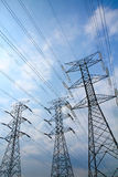 Grid electricity transmission towers Stock Images