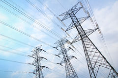 Grid electricity transmission towers Stock Photography