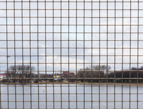 Grid fence Stock Photo