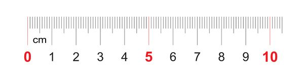 Free Grid For A Ruler Of 100 Millimeters, 10 Centimeters. Calibration Grid. Value Division 1 Mm Royalty Free Stock Photos - 143422938
