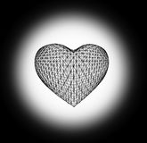 Grid In the form of heart. Stock Image