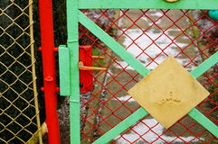 Grid gate Royalty Free Stock Photo