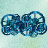 Grid and gears01 Royalty Free Stock Photos