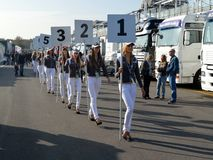Grid girls royalty free stock photos