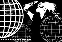 Grid globe Stock Image