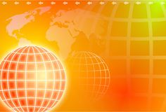 Grid globe Royalty Free Stock Photography