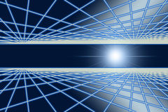 Grid glow in space Royalty Free Stock Photo