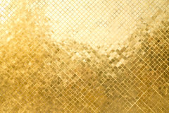 The grid of golden plate Stock Photo
