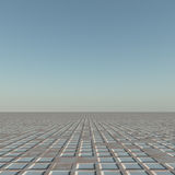 Grid Horizon. A flat grunge grid to horizon background royalty free illustration