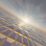 Grid Horizon Technology. A technology grid horizon background royalty free illustration