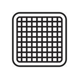 Grid icon vector sign and symbol isolated on white background, G vector illustration