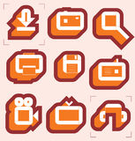 Grid icons for media Stock Photos