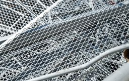 Grid iron and ferrous material in the landfill Stock Images