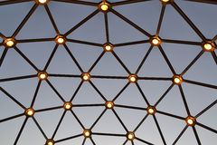 Grid of lights Royalty Free Stock Images