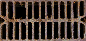 Grid manhole cover Royalty Free Stock Photos