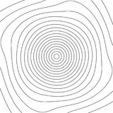 Grid mesh with distortion. Rotating, spiral mesh of lines. Royalty Free Stock Photography