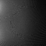 Grid - mesh of dynamic curved lines. Abstract geometric pattern. Royalty Free Stock Photo