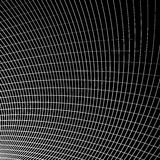 Grid - mesh of dynamic curved lines. Abstract geometric pattern. Stock Photos