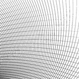 Grid - mesh of dynamic curved lines. Abstract geometric pattern. Monochrome texture. - Royalty free vector illustration stock illustration