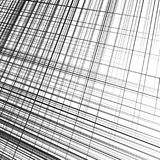 Grid, mesh of dynamic irregular lines. Abstract geometric trelli Royalty Free Stock Images