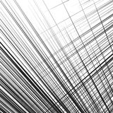 Grid, mesh of dynamic irregular lines. Abstract geometric trelli Stock Image