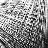 Grid, mesh of dynamic irregular lines. Abstract geometric trelli Stock Photography