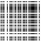 Grid, mesh of intersecting lines. Abstract monochrome background. Seamlessly repeatable pattern. Irregular, random lines pattern. - Royalty free vector Stock Illustration