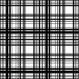 Grid, mesh of intersecting lines. Abstract monochrome background. Seamlessly repeatable pattern. Irregular, random lines pattern. - Royalty free vector Stock Images