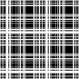 Grid, mesh of intersecting lines. Abstract monochrome background. Seamlessly repeatable pattern. Irregular, random lines pattern. - Royalty free vector Vector Illustration