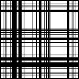 Grid, mesh of intersecting lines. Abstract monochrome background. Seamlessly repeatable pattern. Irregular, random lines pattern. - Royalty free vector Royalty Free Illustration