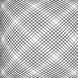 Grid, mesh, intersecting lines pattern with convex distortion. L Royalty Free Stock Photography