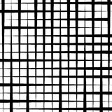 Grid mesh pattern - Irregular intersecting straight lines. monoc Stock Photography