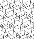 Grid, mesh seamless monochrome pattern. Intersecting lines. Royalty Free Stock Image