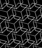 Grid, mesh seamless monochrome pattern. Intersecting lines. Stock Photography