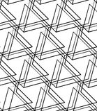 Grid, mesh seamless monochrome pattern. Intersecting lines. Royalty Free Stock Photos