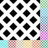 Grid, mesh, squares pattern in 12 colors. Royalty free vector illustration Royalty Free Stock Image