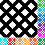 Grid, mesh, squares pattern in 12 colors. Royalty free vector illustration Royalty Free Stock Images