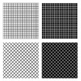 Grid, mesh textures Repeatable. Grid, mesh textures. Set of repeatable monochrome patterns, backgrounds. - Royalty free vector illustration stock illustration